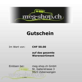 Gutschein CHF 50.00 meg-shop.ch_807